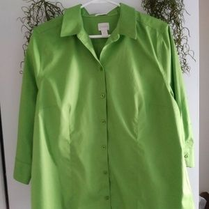 NWOT BEAUTIFUL Lime Green Blouse by Chico's💕💕